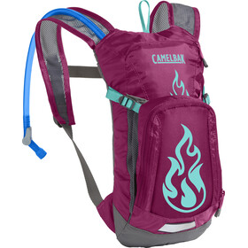 CamelBak Mini M.U.L.E. Hydration Pack 1,5L Kids, baton rouge/ flames